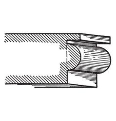 Bead a roman moulding vintage engraving vector