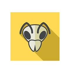 Bee flat icon animal head symbol vector
