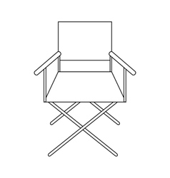 Cinema director chair icon outline style vector