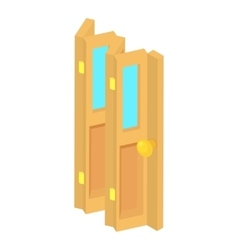 Door accordion icon cartoon style vector image vector image