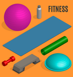 Flat design elements for fitness vector
