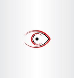 Human eye icon symbol stylized sign vector