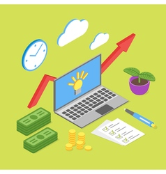 isometric concept for business growth or online vector image
