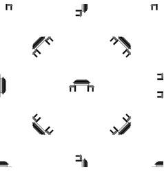 pagoda pattern seamless black vector image