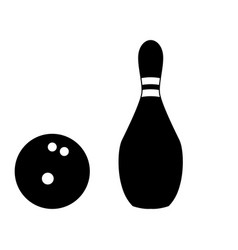 Pin and bowling ball vector