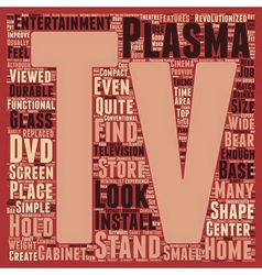 Plasma tv stands text background wordcloud concept vector