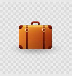 Realistic travel suitcases isolated on transparent vector