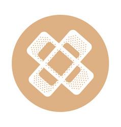 Round icon bandage plaster cartoon vector