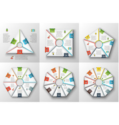 Set of geometric shapes for infographic vector