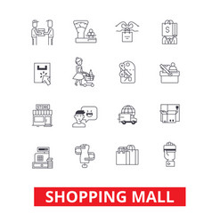 shopping mall online payment retail sales vector image