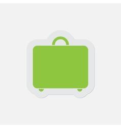 Simple green icon - suitcase vector