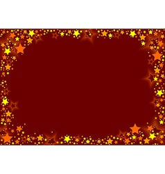 Stars And Red Background vector image vector image