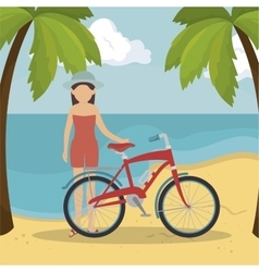 summer vacation holiday icon vector image
