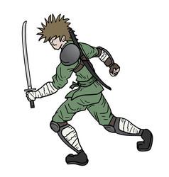 Sword ninja vector