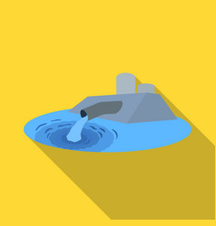 Water treatment plant icon in flate style isolated vector