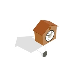 Cuckoo clock icon isometric 3d style vector