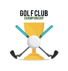 ball and club icon Golf sport design vector image
