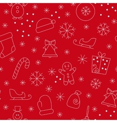 Seamless pattern christmas vector