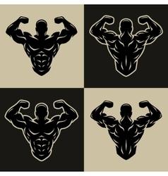 Bodybuilder logo symbol vector