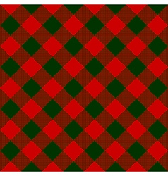 Red green check diagonal textile seamless pattern vector