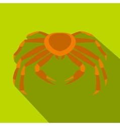 Crab sea animal icon flat style vector