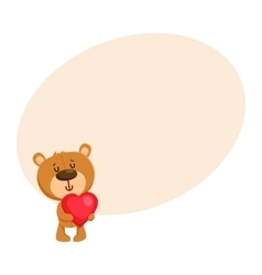 Cute traditional retro style teddy bear character vector image