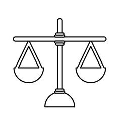 Justice balance isolated icon vector
