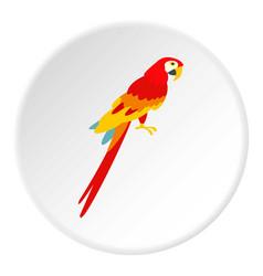 Scarlet macaws icon circle vector