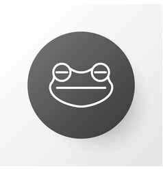 frog icon symbol premium quality isolated toad vector image