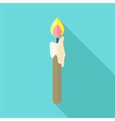 Candle with fire vector