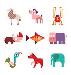 Animal icons 8 vector