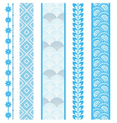 Set of abstract pattern stripes vector