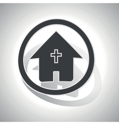 Christian house sign sticker curved vector image