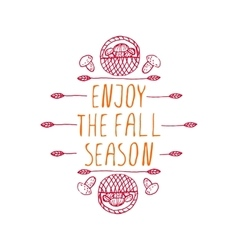 Enjoy the fall season - typographic element vector
