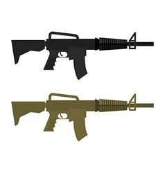 Army military machine gun set of two martial vector