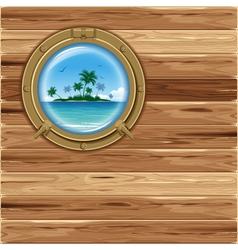Boat porthole vector image