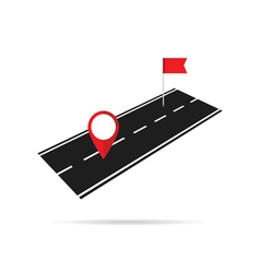 Road with pointer vector