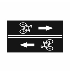 Road for cyclists icon simple style vector
