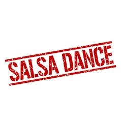 salsa dance stamp vector image