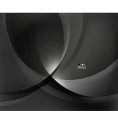 Abstract black business wave vector
