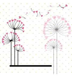 abstract love flower vector image vector image
