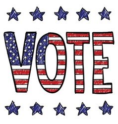American voter vector image vector image