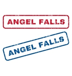 Angel falls rubber stamps vector