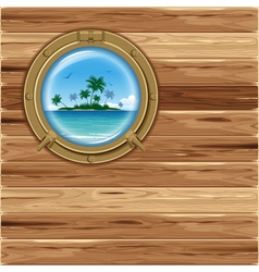 Boat porthole vector image vector image