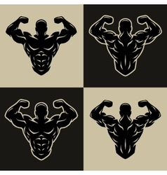 Bodybuilder logo symbol vector image vector image