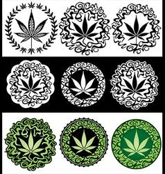 Cannabis Marijuana leaf texture background vector image vector image