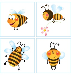Cartoon bumble bees vector