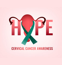 Cervical cancer awareness vector