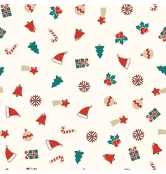 Christmas symbols seamless background xmas vector image vector image
