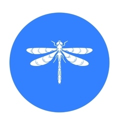 Dragonfly icon in black style isolated on white vector